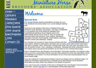Area 6 Miniature Horse and Shetland Pony Club