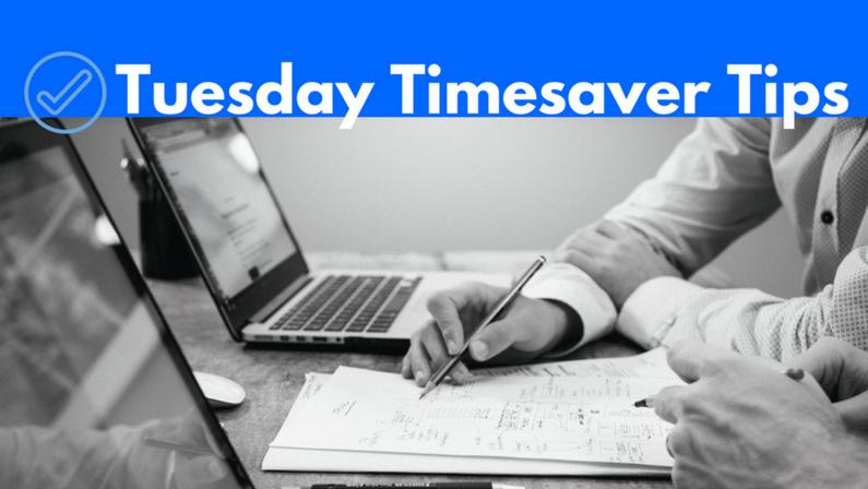Tuesday Timesaver Tips: Social Media